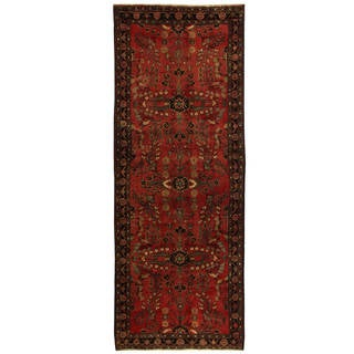 Handmade One-of-a-Kind Hamadan Wool Runner (Iran) - 3'7 x 9'7