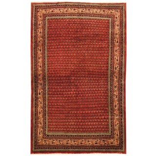 Herat Oriental Persian Hand-knotted Mir Wool Rug (4'7 x 7'2)