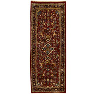 Herat Oriental Persian Hand-knotted Mahal Wool Runner - 4' x 10'2