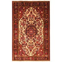 Handmade Herat Oriental Persian Hamadan Wool Rug - 5'4 x 8'8 (Iran)