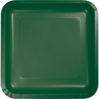 Touch of Color Square Deep Dish 9 inch Dinner Plates Hunter Green ,Case of 180