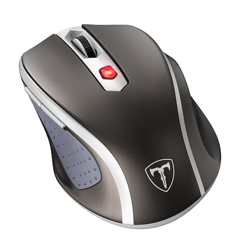 Wireless Mouse, 2.4G Mobile Optical Mouse with Nano Receiver, 6Buttons, 2400DPI, 5 Adjustable DPI Levels