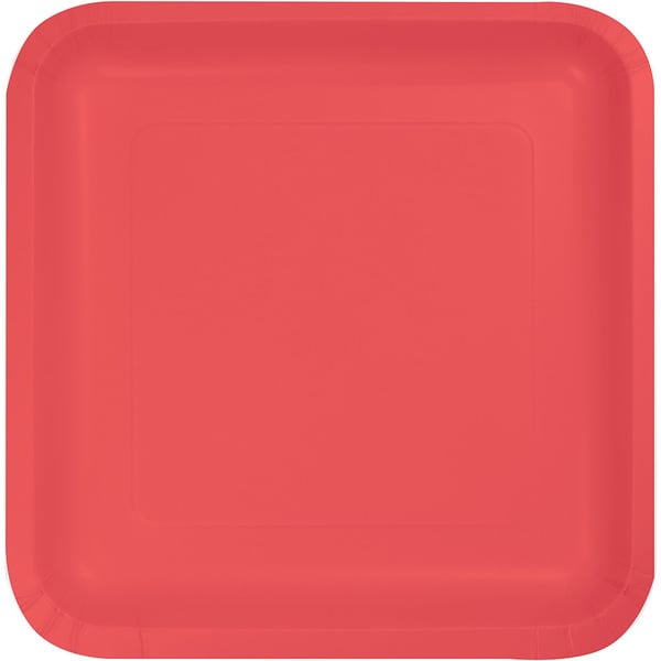 Touch of Color Square Deep Dish 9 inch Dinner Plates Coral Case of 180  sc 1 st  Overstock.com & Touch of Color Square Deep Dish 9 inch Dinner Plates Coral Case of ...