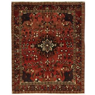 Herat Oriental Persian Hand-knotted Bakhtiari Wool Rug (5'5 x 6'9)