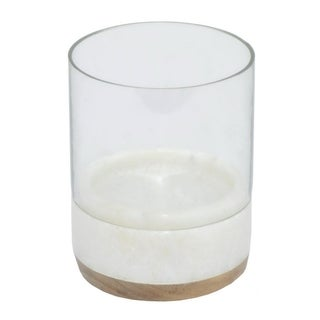 Three Hands Marble/ Wood Base Candle Holder