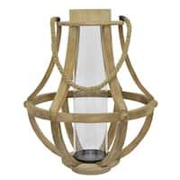Three Hands Wood Glass Lantern