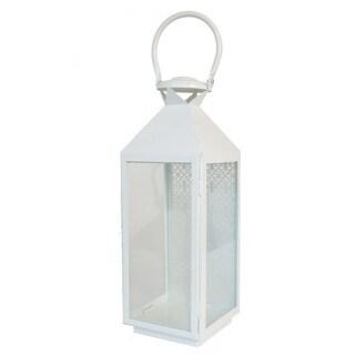 Three Hands Pierced Metal Glass Lantern