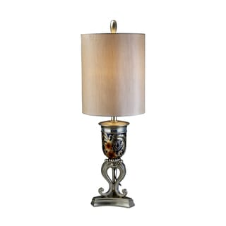 Ore International Gold Metal 36.5-inch Cherry Blossoms Table Lamp