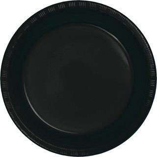 Touch of Color Premium Plastic Luncheon Plates Black Velvet ,Case of 240