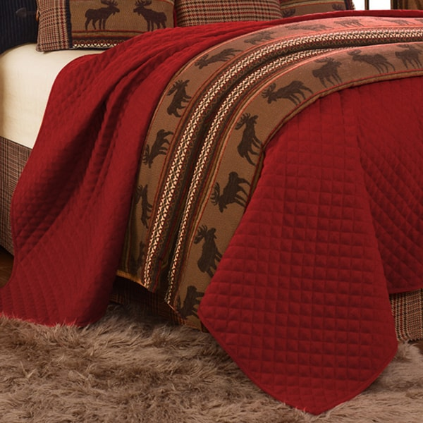 HiEnd Accents Bayfield Red Coverlet (1-Piece )