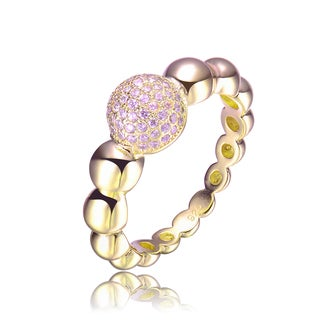 Sterling Silver Cubic Zirconia Bubble Statement Ring
