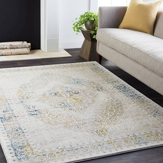 Vintage Medallion Traditional Beige (7'10 x 10'3)