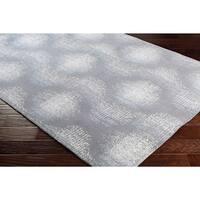 Contemporary Geometric Grey Wool/Nylon Indoor Rectangular Area Rug - 7'6 x 9'6