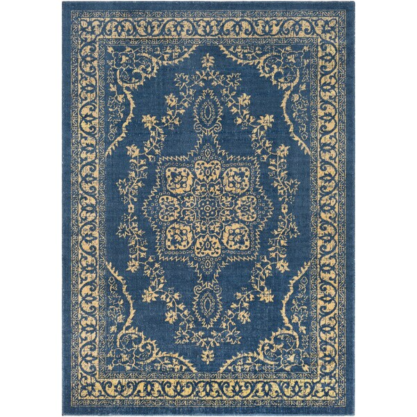 Traditional Persian Oriental Navy Blue Yellow Area Rug 7 10 X 10 3