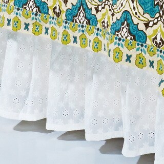 Hiend Accents Eyelet White Bedskirt