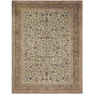Hand-knotted Shavonda Light Green Wool Rug (10'1 x 13'7)