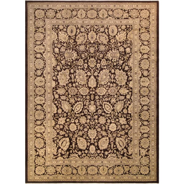 Shelia Tan Brown Ivory Wool Hand Knotted Peshawar Area Rug 10 X 14 On Sale Overstock 15949476