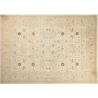 Kafkaz Peshawar Candance Ivory Wool Hand-knotted Rug (10'0 x 13'10)