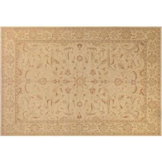 Kafkaz Argelia Sun-faded Tan Wool Hand-knotted Rug (9'5 x 14'5)