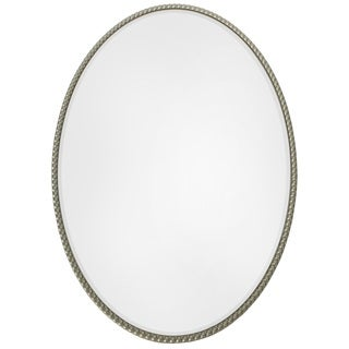 Selections By Chaumont Champagne Silver Oval Bead Wall Mirror