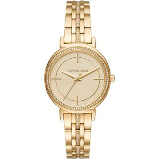 Michael Kors Women's MK3681 'Cinthia' Crystal Gold-Tone Stainless Steel Watch