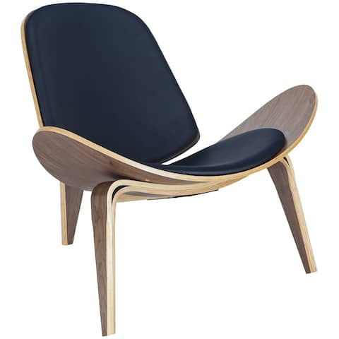 EdgeMod Contemporary Curved Plywood Lounge Chair