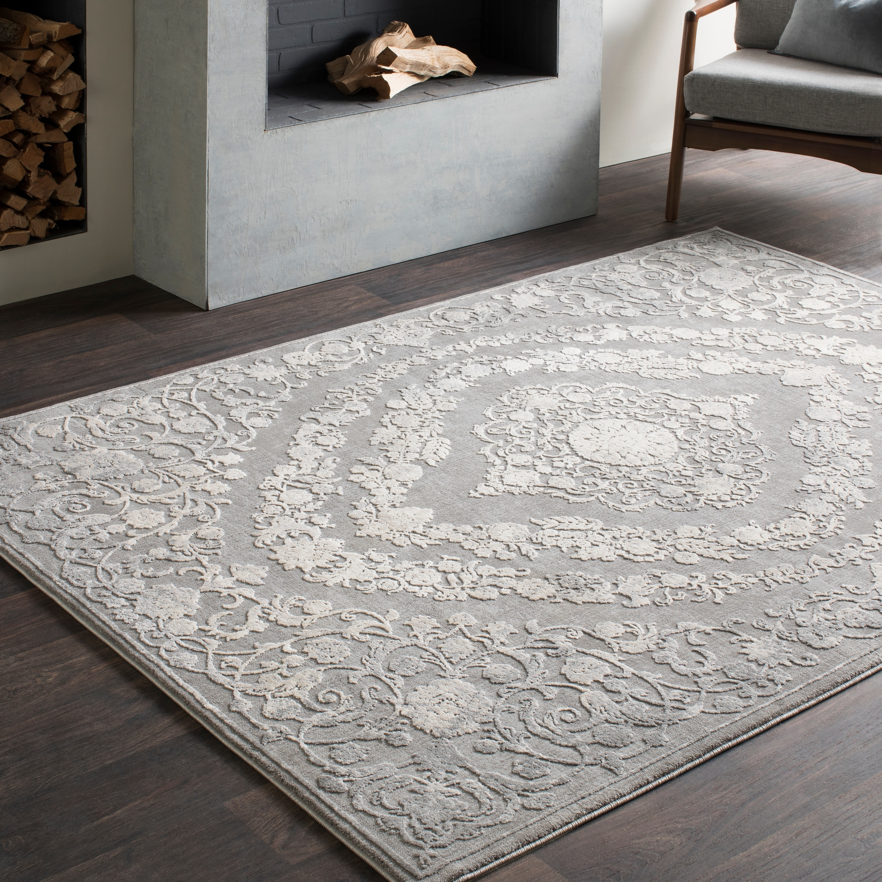 Torrie Floral Medallion Grey Area Rug 7 10 X 10 3 On Sale Overstock 15949723