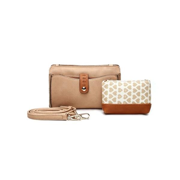 MKF Collection Frangelina 3-in-1 Crossbody/Pouch/Wallet Set by Mia K. Farrow