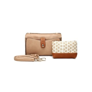Mia K. Farrow Women's MKF Collection Frangelina Faux Leather 3-in-1 Crossbody Pouch and Wallet Set
