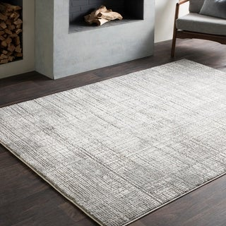 "Jaden Tonal Abstract Grey Area Rug - 6'7"" x 9'6"""