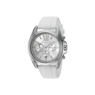 Michael Kors Women's Mk2573 Garner Silver Dial Luggage Leather Watch
