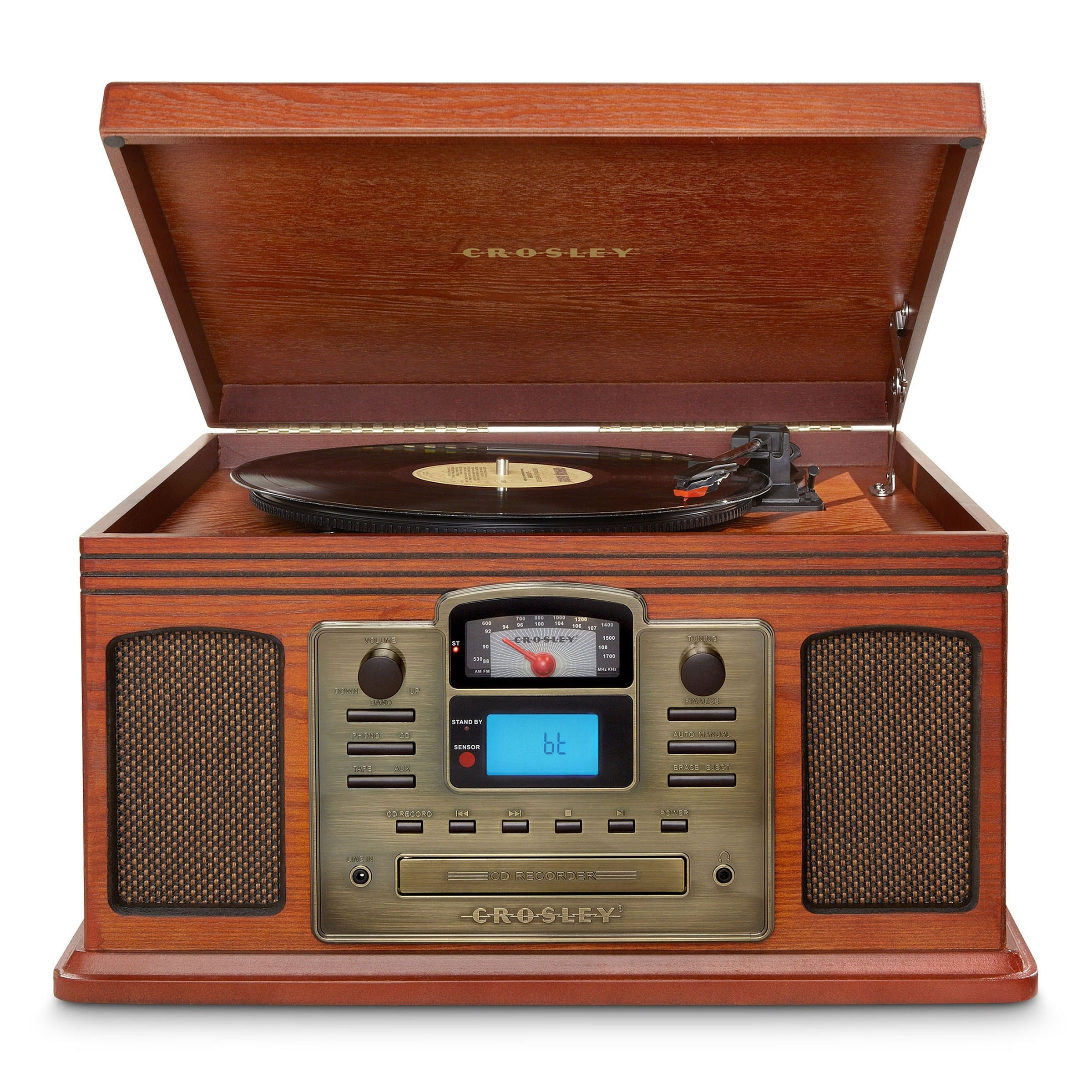 Crosley Radio Director Cd Recorder With Bluetooth, Brown ...