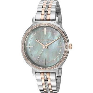 Michael Kors Women's MK3642 'Cinthia' Crystal Two-Tone Stainless Steel Watch