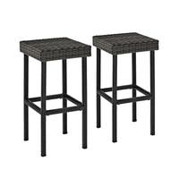 Palm Harbor Outdoor Wicker 29-inch Bar Height Stool (Set of 2)