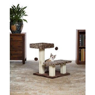 Prevue Pet Products Kitty Power Paws Leopard Terrace Cat Tree