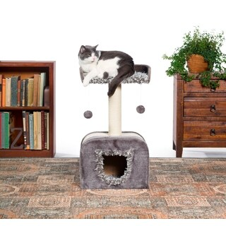 Prevue Pet Products Kitty Power Paws Shag Hideaway Cat Tree