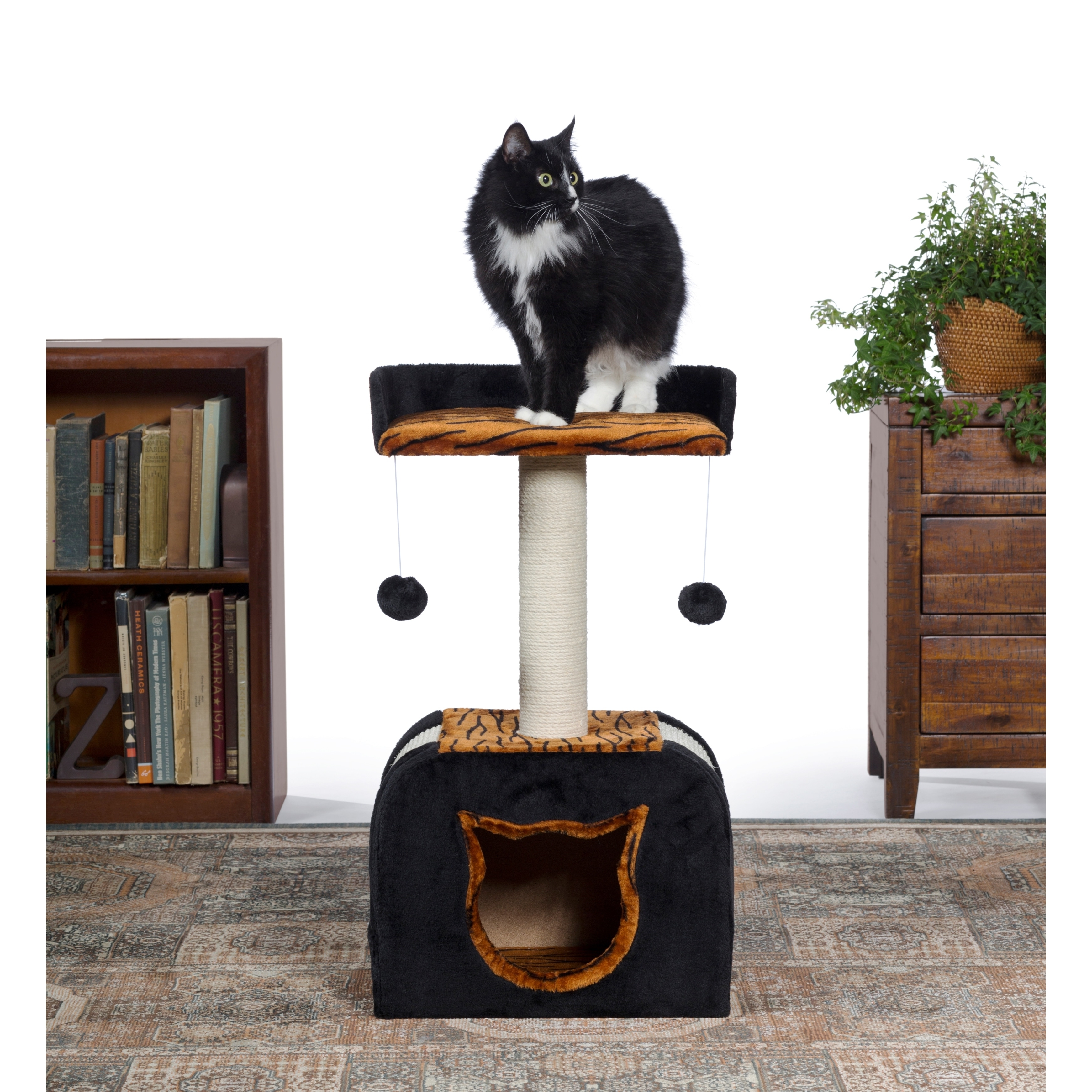 Prevue Pet Products Kitty Power Paws Tiger Hideaway Cat T...