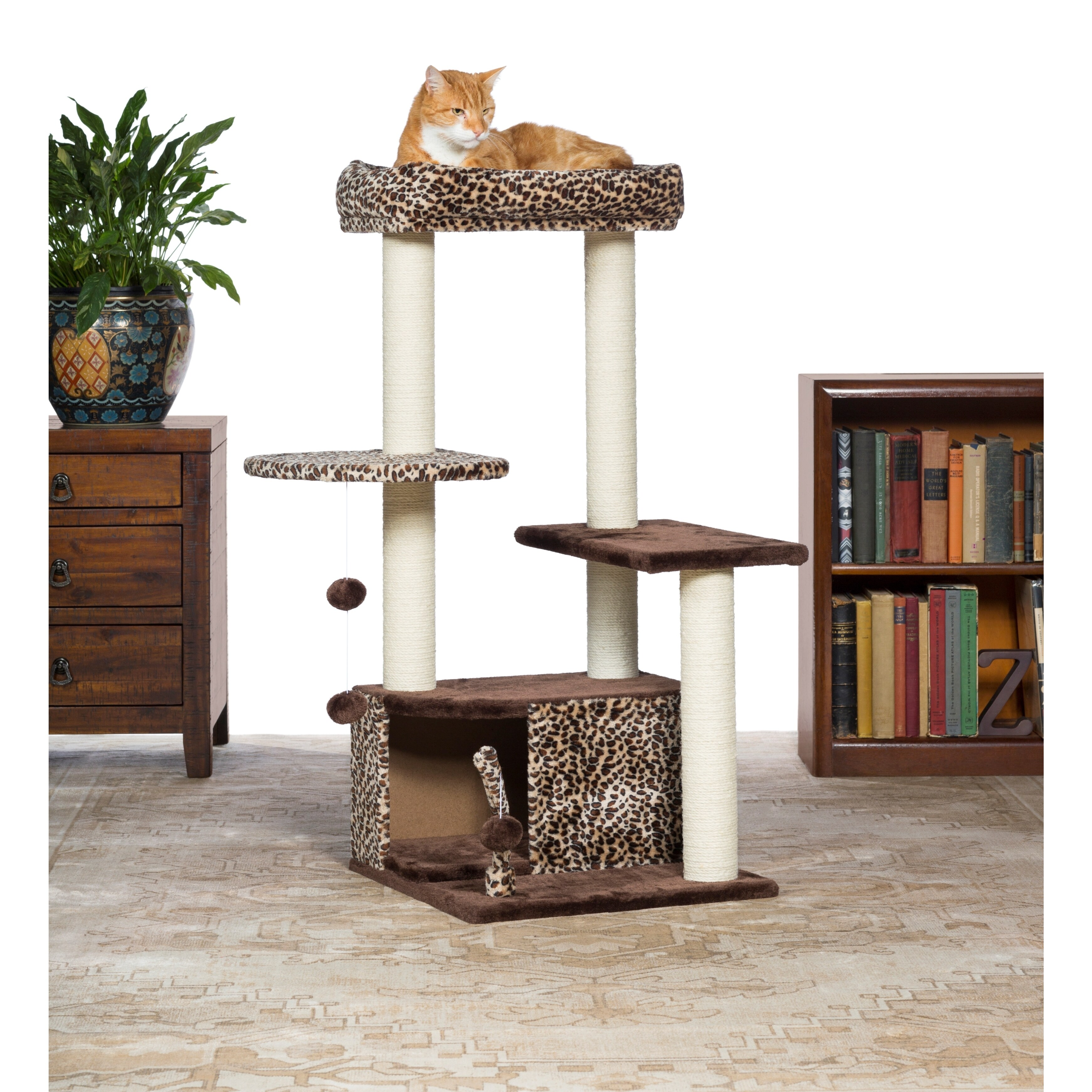 Prevue Pet Products Kitty Power Paws Leopard Lounge Cat T...
