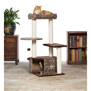 Prevue Pet Products Kitty Power Paws Leopard Lounge Cat Tree