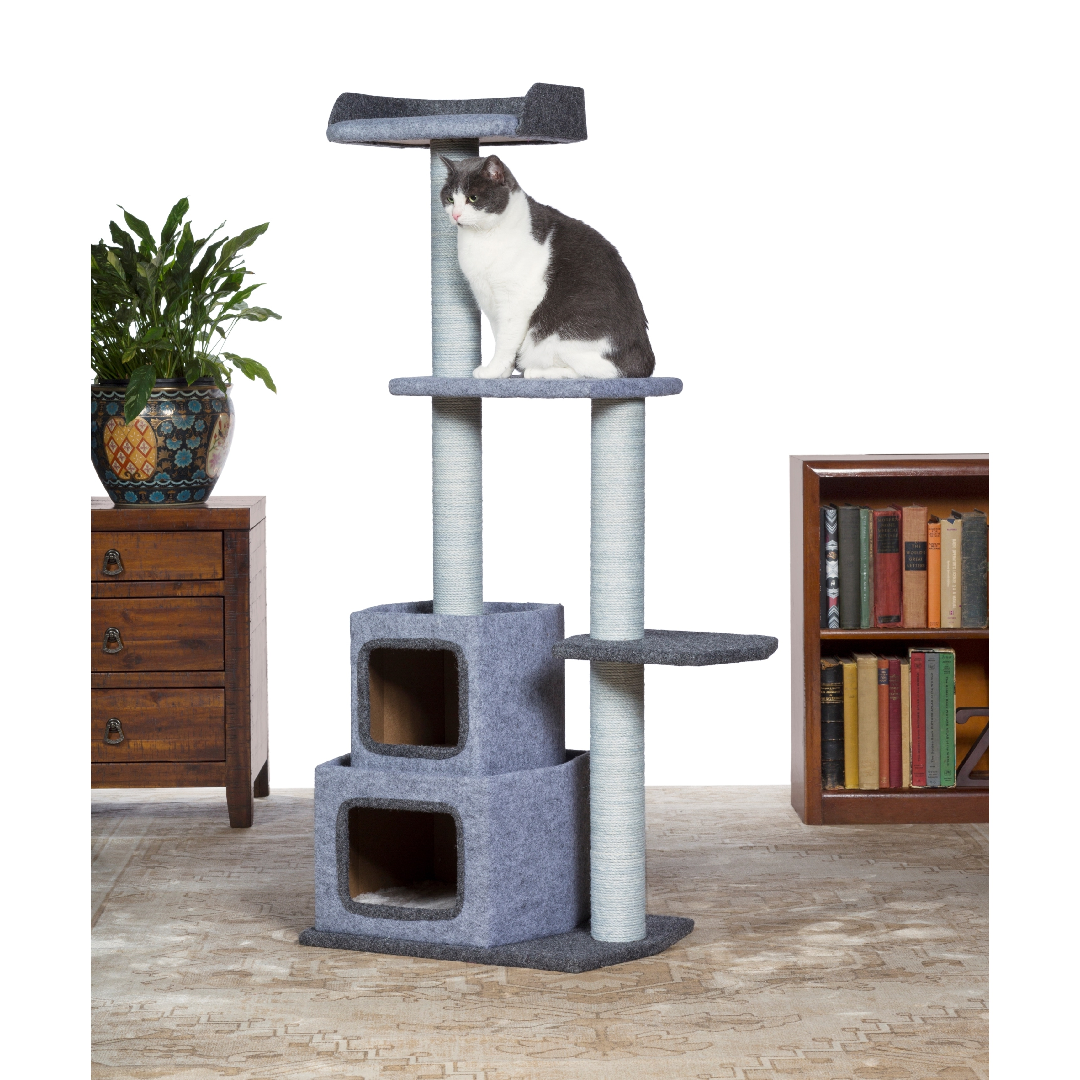 Prevue Pet Products Kitty Power Paws Sky Cat Tower (Gray/...
