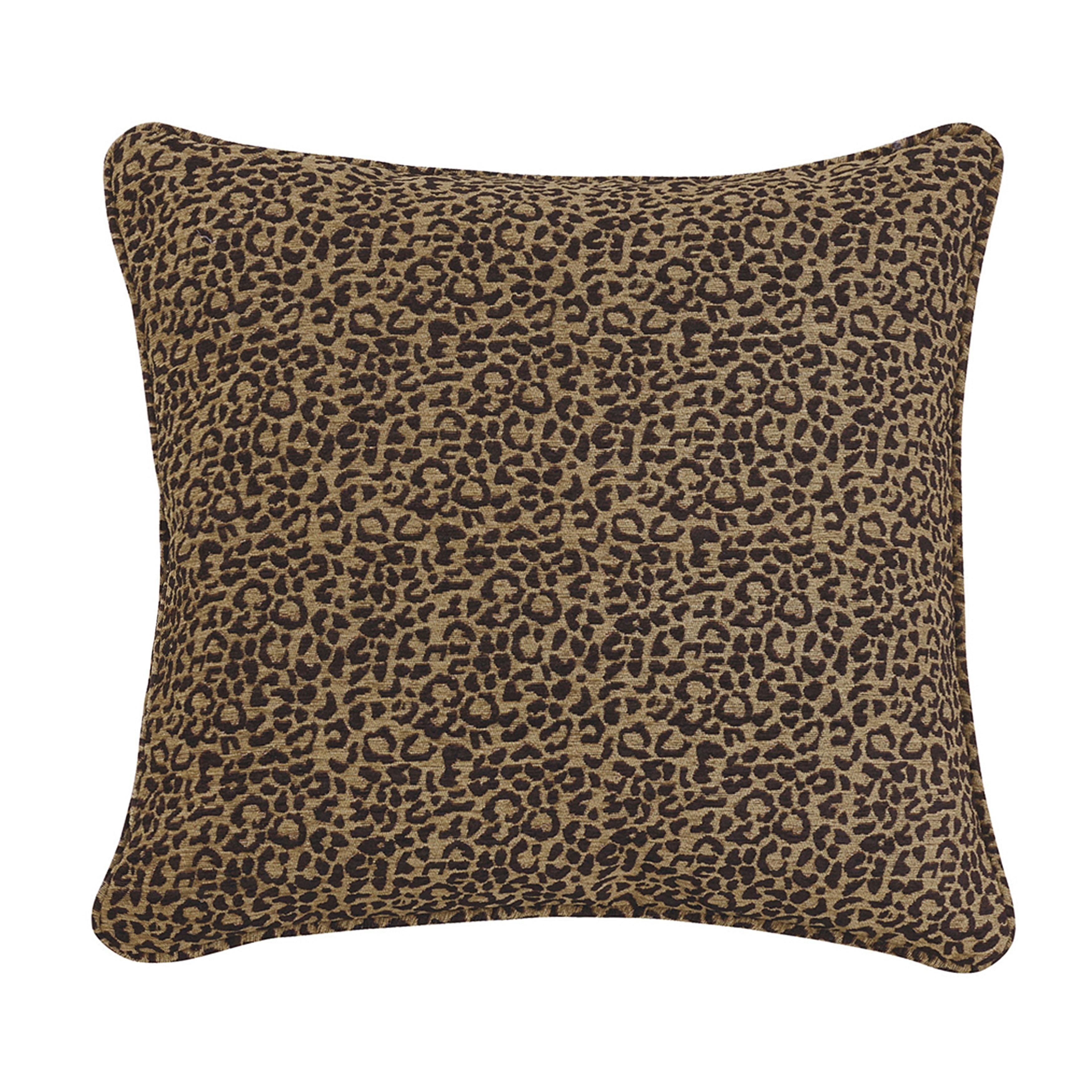 HiEnd Accents Leopard Euro Sham (Pillowcases/Shams), Mult...