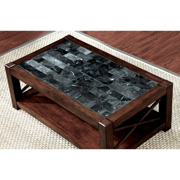 Marque Genuine Marble Top Coffee Table: Shop Furniture Of America Calrison Transitional Genuine