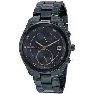 Michael Kors Women's MK6468 Briar Navy Blue Dial Multifunction Watch