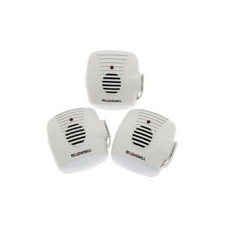 Bell + Howell Ultrasonic Pest Repeller with AC Outlet and Night Light Home Kit - 3 Pack