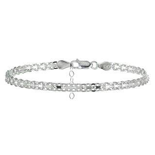 Mondevio Sterling Silver Bismark Design Anklet|https://ak1.ostkcdn.com/images/products/15950291/P22349642.jpg?impolicy=medium
