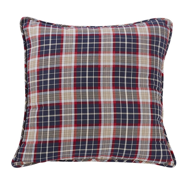 HiEnd Accents South Haven Blue Plaid Euro Sham