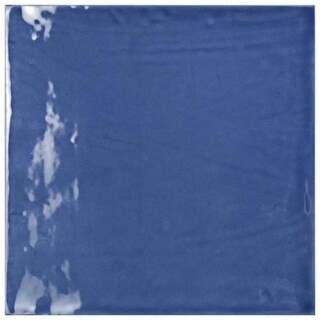 SomerTile 7.75x7.75-inch Borough Giorno Azul Ceramic Wall Tile (25/Case, 10.76 sqft.)