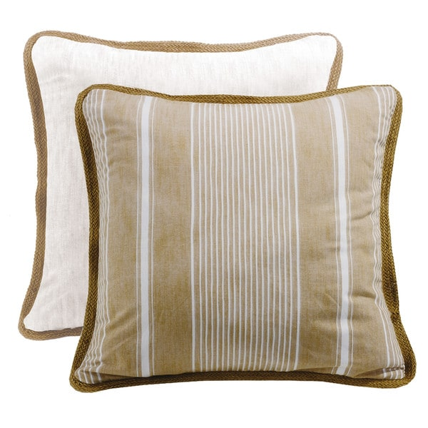 HiEnd Accents Reversible Striped Euro Sham With Trim