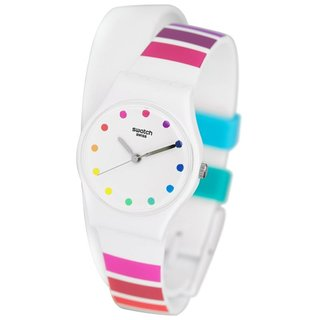 Swatch Women's LW149 'Colorado' Colorful Silicone Watch