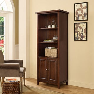 Sienna Bookcase in Rustic Mahogany|https://ak1.ostkcdn.com/images/products/15950375/P22349718.jpg?_ostk_perf_=percv&impolicy=medium